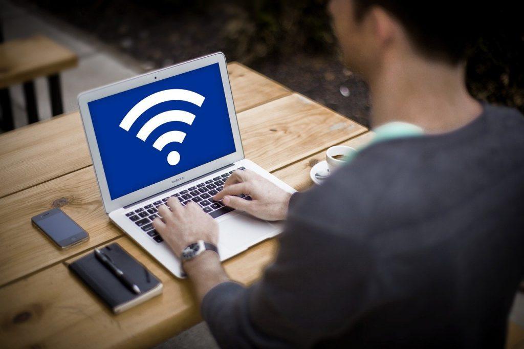 computer, business, wifi